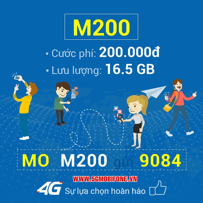 Đăng ký gói M200 Mobifone