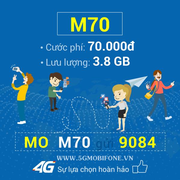 Đăng ký gói M70 Mobifone