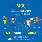 Đăng ký gói cước M90 Mobifone