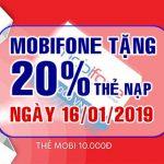 Mobifone khuyến mãi 16/1/2018