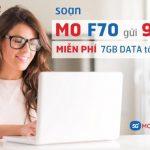 Đăng ký gói F70 Mobifone nhận ngay 7GB Data tốc độ cao
