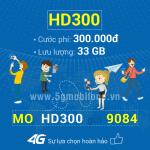 Đăng ký gói cước HD300 Mobifone nhận 33GB Data tốc độ cao