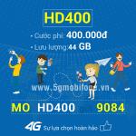 Đăng ký gói HD400 Mobifone nhận 44GB Data cực khủng