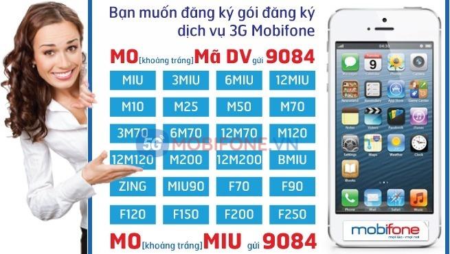 Cách đăng ký gói cước 3G Mobifone theo ngày