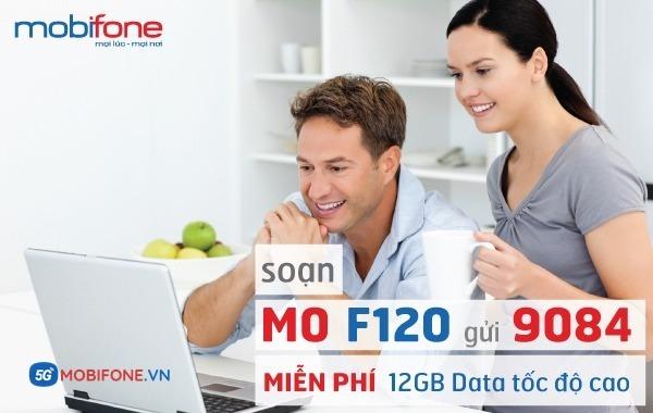 Đăng ký gói cước F120 Mobifone nhận 12GB Data chỉ với 120.000đ/tháng
