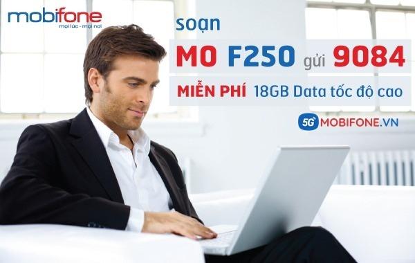 Đăng ký gói cước F250 Mobifone nhận 18GB Data tốc độ cao