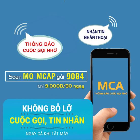 Dịch vụ thông báo cuộc gọi nhỡ MCA Mobifone