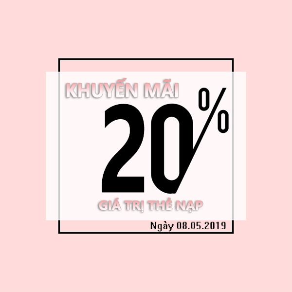 Mobifone khuyến mãi ngày 8/5/2019 tặng 20% thẻ nạp