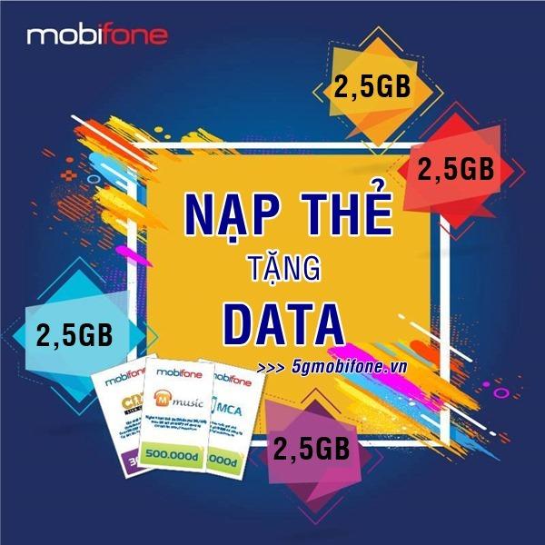 Nạp thẻ Mobifone nhận ưu đãi Data miễn phí