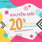 Mobifone khuyến mãi ngày 19/6/2019
