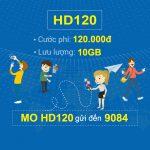 Đăng ký gói cước HD120 Mobifone có ngay 10GB data chỉ với 120k/tháng