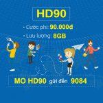 Đăng ký gói cước HD90 Mobifone nhận ngay 8GB data tốc độ cao chỉ với 90k/tháng