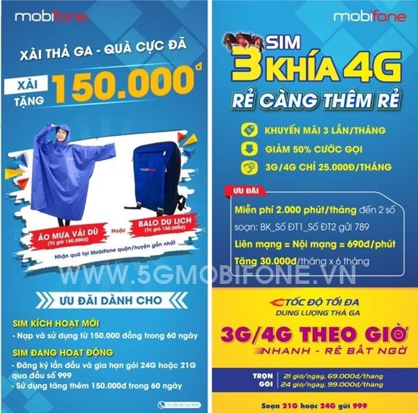 Hòa mạng Sim Ba Khía 4G Mobifone