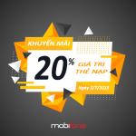 Mobifone khuyến mãi ngày 3/7/2019