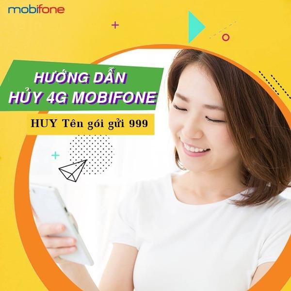Cách hủy gói cước 4G Mobifone
