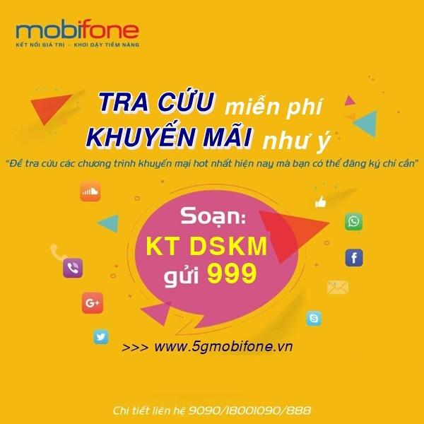 Cách tra cứu khuyến mãi Mobifone