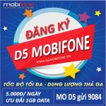 Đăng ký gói cước D5 Mobifone 5k/ngày