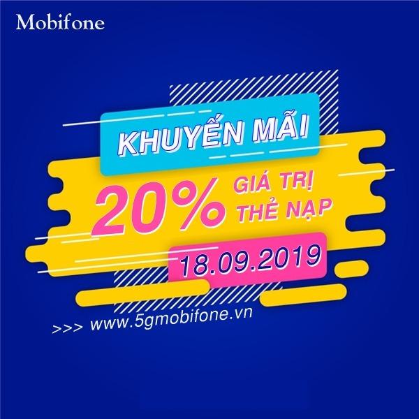 Mobifone khuyến mãi ngày 18/9/2019