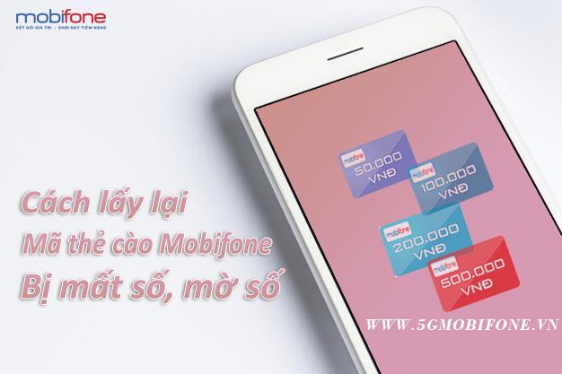 Cách đổi thẻ cào Mobifone bị mất số