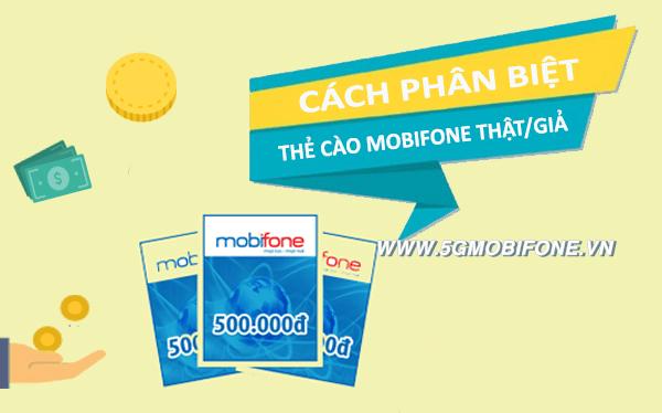 Cách phân biệt thẻ cào Mobifone thật giả
