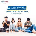 Tài khoản khuyến mãi Mobifone dùng làm gì