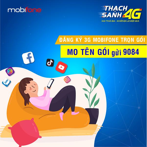 Gói cước 3G Mobifone trọn gói không giới hạn dung lượng Data