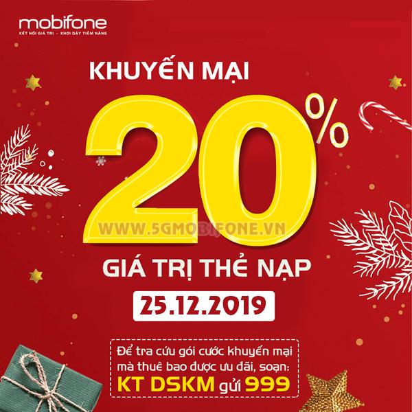 Mobifone khuyến mãi ngày 25/12/2019