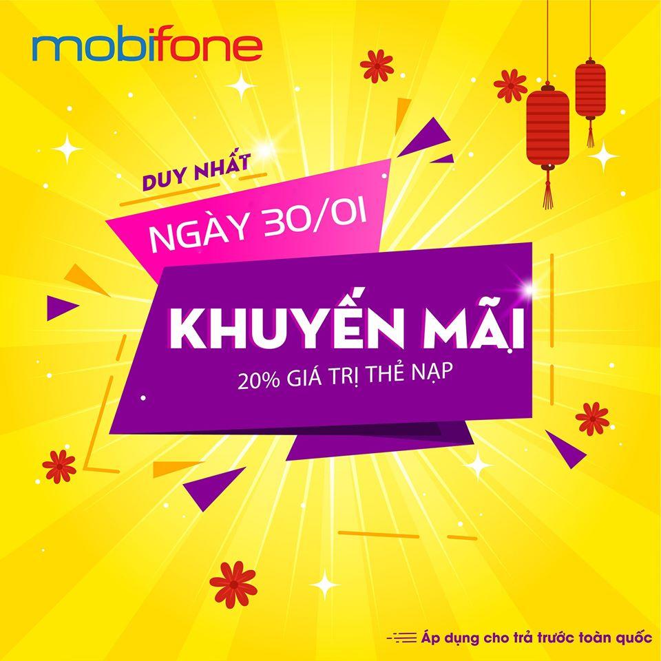 Mobifone khuyến mãi ngày 30/1/2020