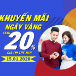 Mobifone khuyến mãi ngày 15/1/2020
