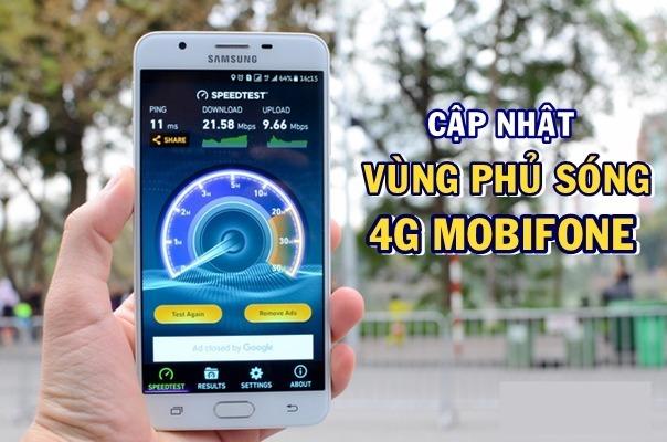 Vùng phủ sóng 4G Mobifone
