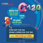 Đăng ký gói C120 Mobifone miễn phí 4GB/ngày (120GB/tháng) kèm triệu phút gọi