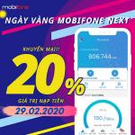 Mobifone khuyến mãi ngày 29/2/2020