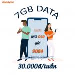 Cách đăng ký gói D30 Mobifone nhận ngay 7GB data chỉ với 30.000đ/tuần