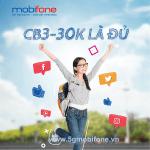 Cách đăng ký gói CB3 Mobifone miễn phí 2,3GB data và 330 phút gọi