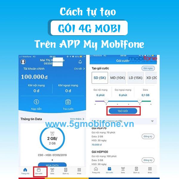 Cách tạo gói cước Mobifone khuyến mãi 4G, gọi thoại, SMS