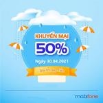 Mobifone khuyến mãi 30/4/2021 ưu đãi 20% - 50% tiền nạp