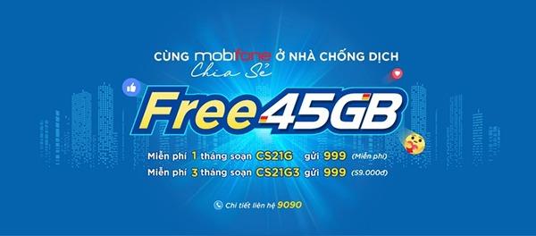 Mobifone tặng 45GB data cho người dùng miền Tây