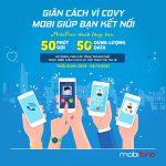Mobifone khuyến mãi tặng data + Gọi thoại áp dụng cho khu vực giãn cách chỉ thị 16
